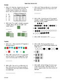 4th Grade Math daily review week 25