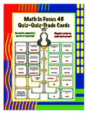 Fourth Grade Math in Focus 4B Vocabulary Quiz-Quiz-Trade Cards