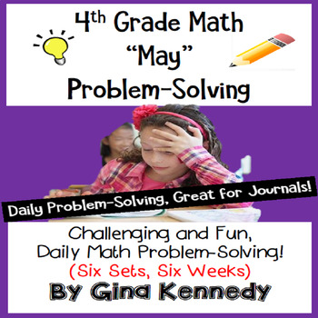 4th Grade May Math Word Problems (All Multi-step!) Great f