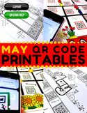 4th Grade May QR Code Printables - Low Prep!