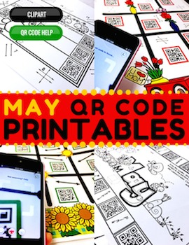 4th Grade May QR Code Printables - Low Prep!