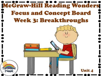 4th Grade McGraw-Hill Reading Wonders Concept Focus Wall Unit 4 Week 3