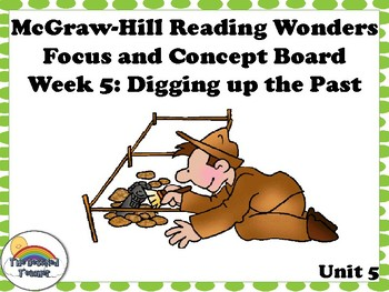 4th Grade McGraw-Hill Reading Wonders Concept Focus Wall Unit 5 Week 5