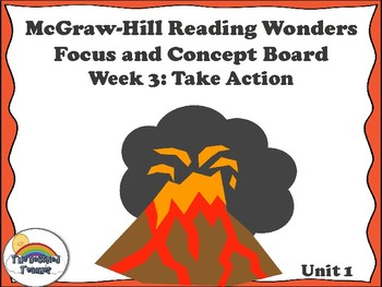 4th Grade McGraw-Hill Reading Wonders Concept Focus Wall Unit1 Week 3