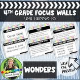4th Grade Wonders Reading Series Focus Walls Unit 1