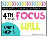 4th Grade Reading Wonders Focus Wall Unit 1 Week 3