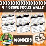 4th Grade McGraw Hill Reading Wonders Focus Wall Unit 2
