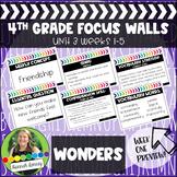 4th Grade McGraw Hill Reading Wonders Focus Wall Unit 3
