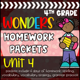 4th Grade McGraw-Hill Wonders Unit 4 Daily Homework