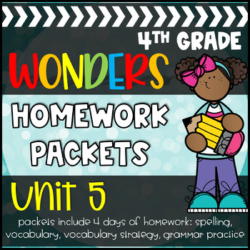 4th Grade McGraw-Hill Wonders Unit 5 Daily Homework