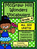 4th Grade McGraw-Hill Wonders Vocabulary MEGA PACK!