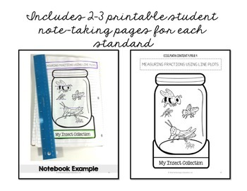 Interactive Math Notebook 4th Grade Measurement & Data Common Core MD