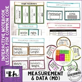 Interactive Math Notebook 4th Grade Measurement & Data Com