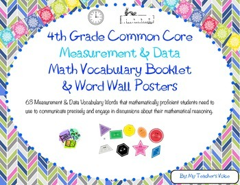 4th Grade Measurement & Data Word Wall Vocabulary Booklet