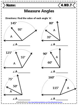 4th Grade Measurement & Data Worksheets: 4th Grade Math Worksheets,  Measurement