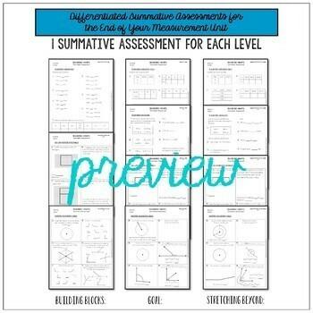 4th Grade Measurement Unit Test 4.MD.1, 4.MD.3, 4.MD.5, 4.MD.6, 4.MD.7