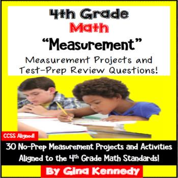 4th Grade Measurement & Conversions, 30 Enrichment Projects & Test-Prep Problems