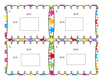 4th Grade Measurement Word Problem Task Cards 12 Set {Growing} Bundle