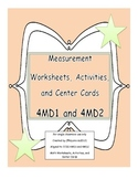 4th Grade Measurement Worksheets, Activities, and Center C