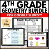 4th Grade Geometry Bundle {4.G.1, 4.G.2, 4.G.3, 4.OA.5} Google Classroom