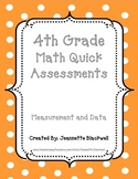 4th Grade Measurement and Data Quick Assessments 4.MD