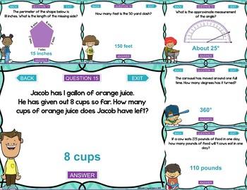 4th Grade Measurement and Data Test Prep Digital Game