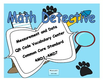 4th Grade Measurement and Data Vocabulary with QR Codes 4MD1 - 4MD7