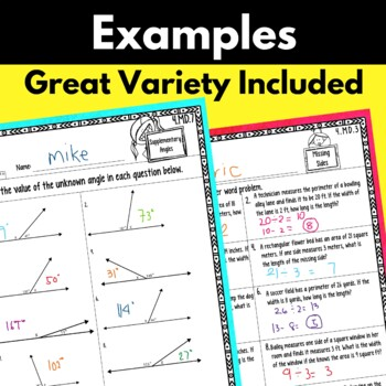 4th Grade Measurement and Data Worksheets