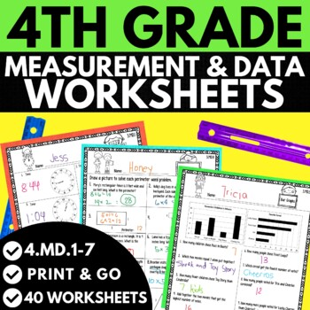 4th Grade Measurement and Data Worksheets by The Lifetime ...