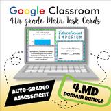 ⭐ GOOGLE CLASSROOM ⭐ 4th Grade Measurement and Data Task Cards BUNDLE