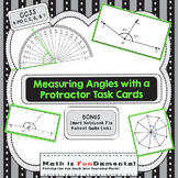 4th Grade Measuring Angles with Protractors Task Cards - Set of 32