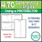 4th Grade Measuring Angles w/ Protractors 4.7C & 4.MD.6 Al