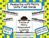 4th Grade Measuring w/ Metric Length Task Cards - 4.MD.A.1