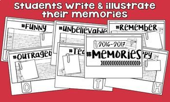 Memory Book 4th Grade - End of the Year Activities