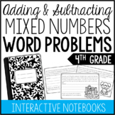 4th Grade Mixed Numbers Word Problems (Interactive Notebook)