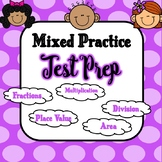 4th Grade Mixed Practice Math Test Prep