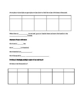 Engage NY 4th Grade Module 1 Full Unit Guided Notes