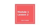 4th Grade Module 1 Lesson 2 EDITABLE