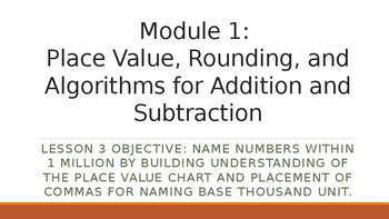 4th Grade Module 1 Lesson 3 PowerPoint