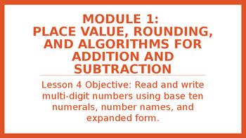 4th Grade Module 1 Lesson 4 PowerPoint