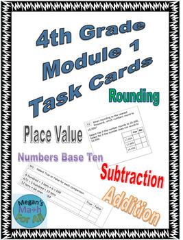 4th Grade Module 1 Task Cards- Engage NY/Eureka - Editable-SBAC