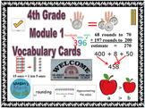 4th Grade Module 1 Vocabulary - Engage NY/Eureka Math - SBAC - Editable