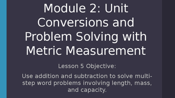 4th Grade Module 2 Lesson 5 PowerPoint