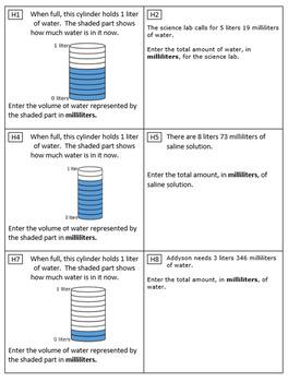 4th Grade Module 2 Task Cards - Metric - Editable
