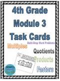 4th Grade Module 3 Task Cards (Multiplicaton/Division) - SBAC - Editable
