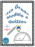 4th Grade Module 4 Quizzes for Topics A to D - Editable