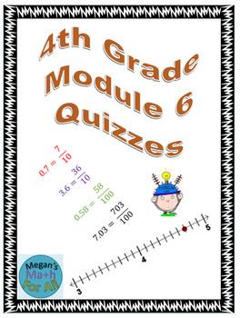 4th Grade Module 6 Quizzes for Topics A to E - Editable