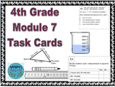 4th Grade Module 7 Task Cards-Convert Customary and Word problems-Editable-SBAC