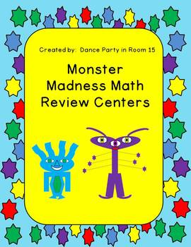 4th Grade Monster Themed Math Centers for Review