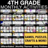 4th Grade Monthly Activities, Games, Puzzles, Riddles, Pro